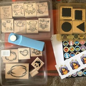Halloween Rubber stamps with extras